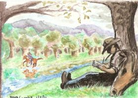 Lazy Summer Day ATC by DarkRiver4