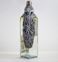 Creepy cthulhu Bottle by FraterOrion
