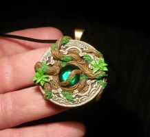 Viridian Force - handsculpted Pendant by Ganjamira