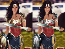 Wonder Woman Gal Gadot - Battle Edition with Eagle by LamboMan7