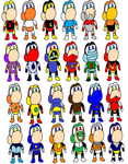 Yoshi customs Mega Man 1-3 by MegaPhantaze