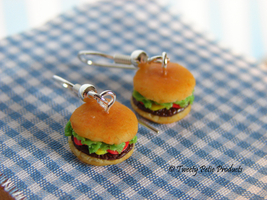Hamburger Earrings by birdielover