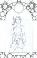Lara Croft pencils by MetaWorks