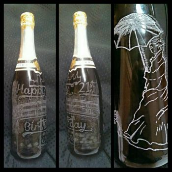 Unopened Champagne Monet Carving by TerraTory