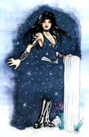 Donna Troy - Quick Watercolor by nathyelric