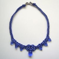 Royal Blue Drop Necklace by johannachambers