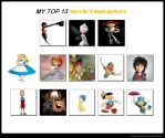 My Top 13 Movie Characters Meme by Mileymouse101