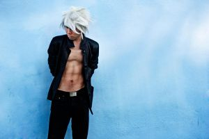 White Haired Asian by DuysPhotoShoots