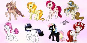 MLP Oc batch 4 by Ari-Uzumaki-Elric