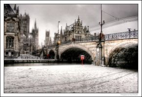 Snow In Ghent by OnayGencturk