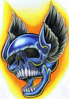 Wings with skull by jerrrroen