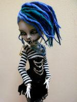 Punk Angel Ghoulia  02 (OOAK MH repaint fullset) by mourningwake-press