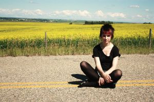 Alyssa and the canola fields 4 by Sec0ndHeartbeat