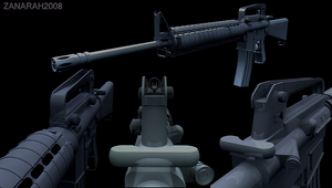 M16A4 Rendition by Zanarah