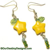 Paopu Fruit Earrings by OurDestinyDesigns