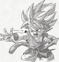 SSJ Goku- Kid by Sketcher6138
