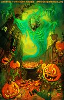 PUMPKIN PARTY by Hartman by sideshowmonkey