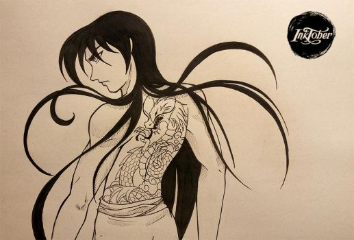 day 19 Shiryu #inktober by Missae-no-Sekai