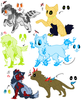 Monster Canines Adoptables (CLOSED) by WINDAKI-Adopts