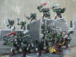 WH40K 'Ard Boys and Warboss by raipo