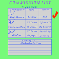 Commission List by SmartLuxray