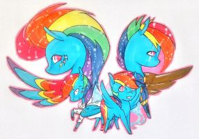 Speed thru's of Rainbow Dash by Eothnoguy