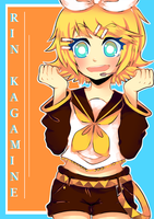 Rin Kagamine by Azuuhime