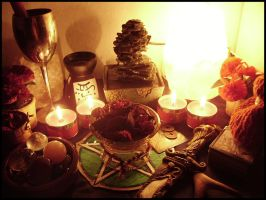 Altar for Beltane by ReanDeanna