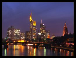 Frankfurt skyline by night by kine80