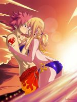 NaLu: Summer's here! The skies cried love... by Joshdinobarney
