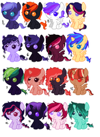 Pony Adoptables 1 OPEN by Rubrum-Luna