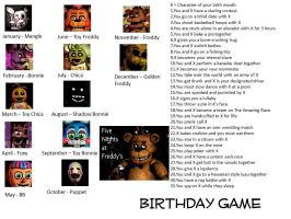 Five Nights At Freddy's Birthday Scenario Game by CanzetYote