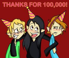 Thanks for 100K by sunni-sideup