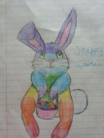 It's the Easter Bunny! by VictoriatheUnicorn