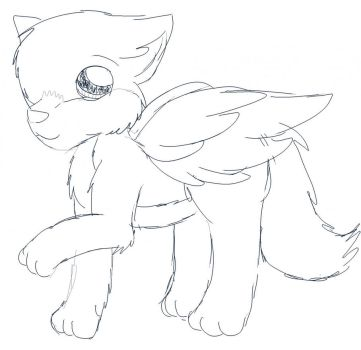 Winged Wolf Pup Faolan by Faolan-Wolfwings