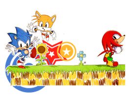 Sonic, Tails and Knuckles by Fumuu