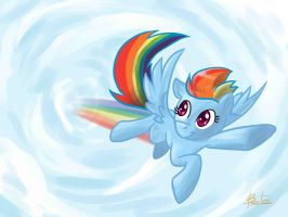 Rainbow Dash Go by benkomilk
