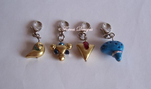 Handmade Spiritual Stones Ocarina of Time Charms by TorresDesigns