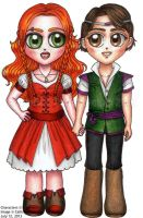 Buttercup and Robert by callisto-chan
