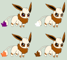 Eevee Smeargle Adopts 2 [1/4 Open] by ReinFalling
