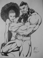 Adam and Eve inked by FanBoy67