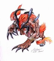 Ifrit FFX by soulofsorrow
