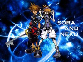 Sora and Neku by CocoaSora