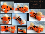 Extra views - Growlithe plush - FOR SALE by Lady-Von-Derpington