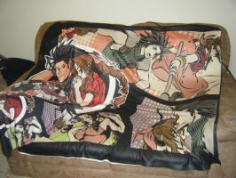 Aeris n Zack Blanket and Case by TheSpyWhoLuvedMe