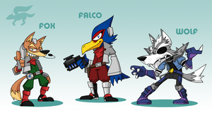 SMASH: Starfox Team by professorfandango