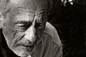 Old Man on Wall by jfleck