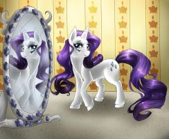 MLP: FiM RARITY by dreampaw