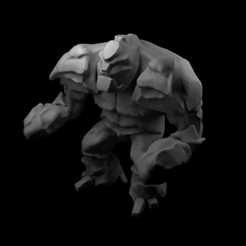 Zbrush stone golem WIP by FearTheEC