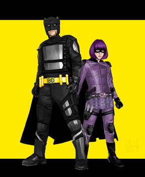 Big-Daddy and Hit-Girl by CallieLynne